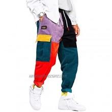 Aelfric Eden Men's Color Patchwork Cargo Pants Unisex Women Casual Trousers Hip hop Streetwear Pants