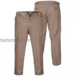 Duke London D555 Mens Big Size Stretch Chino Trousers with Extenda Waist