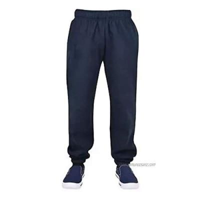 Elite Pleasure Mens Gym Sports Elasticated Hem Fleece Trouser Casual Pockets Sweat Pants Joggers Bottom UK Size S-5XL
