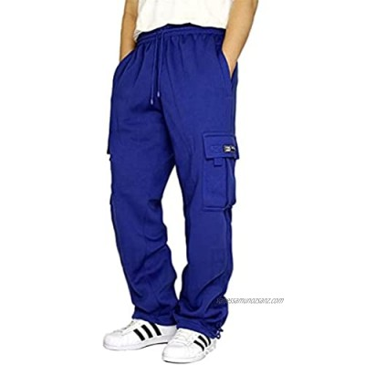 shengli Men's Pants Loose Fit Lightweight Drawstring Pants Cargo Pants Sports Pants with Pockets Casual Pants Jogging Bottoms Trousers