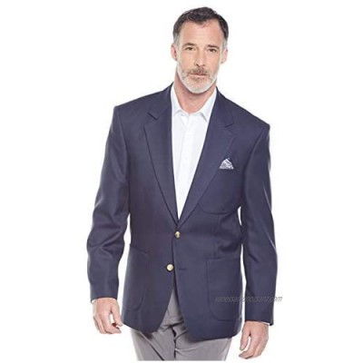 Mens Chums Single Breasted Long Fitting Oxford Blazer Navy