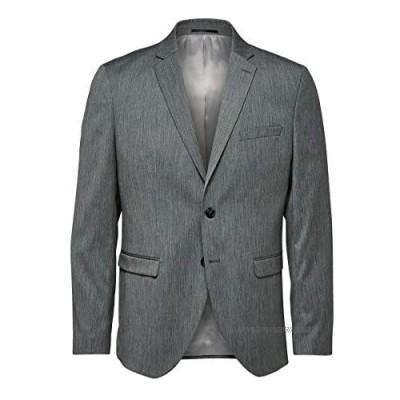 Selected Men's Slhslim-mylobill Lt Grey Strc BLZ B Noos Blazer