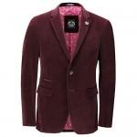 Xposed Mens Soft Corduroy Blazer Coat Vintage Retro Tailored Suit Jacket UK[BLZ-MATTHEW-MAROON-48 Blazer-Maroon Chest UK/US 48 EU 58]