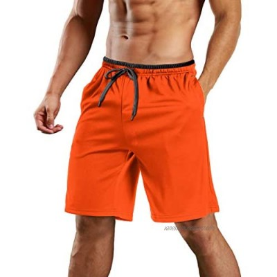 MAGCOMSEN Mens Running Shorts Breathable Quick Dry Gym Sports Shorts Outdoor Jogging Bottoms with Pockets
