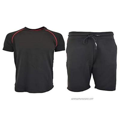 Men's casual wear plain styled short sets